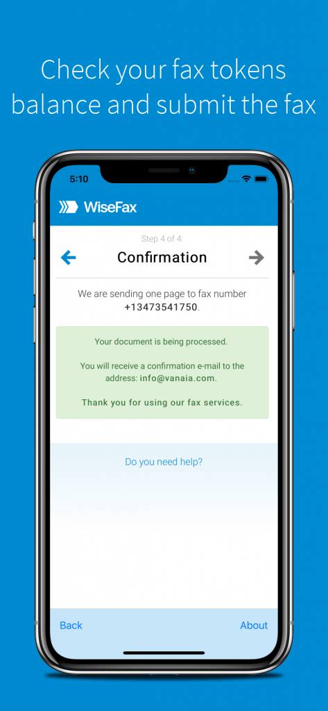 Fax with WiseFax iOS