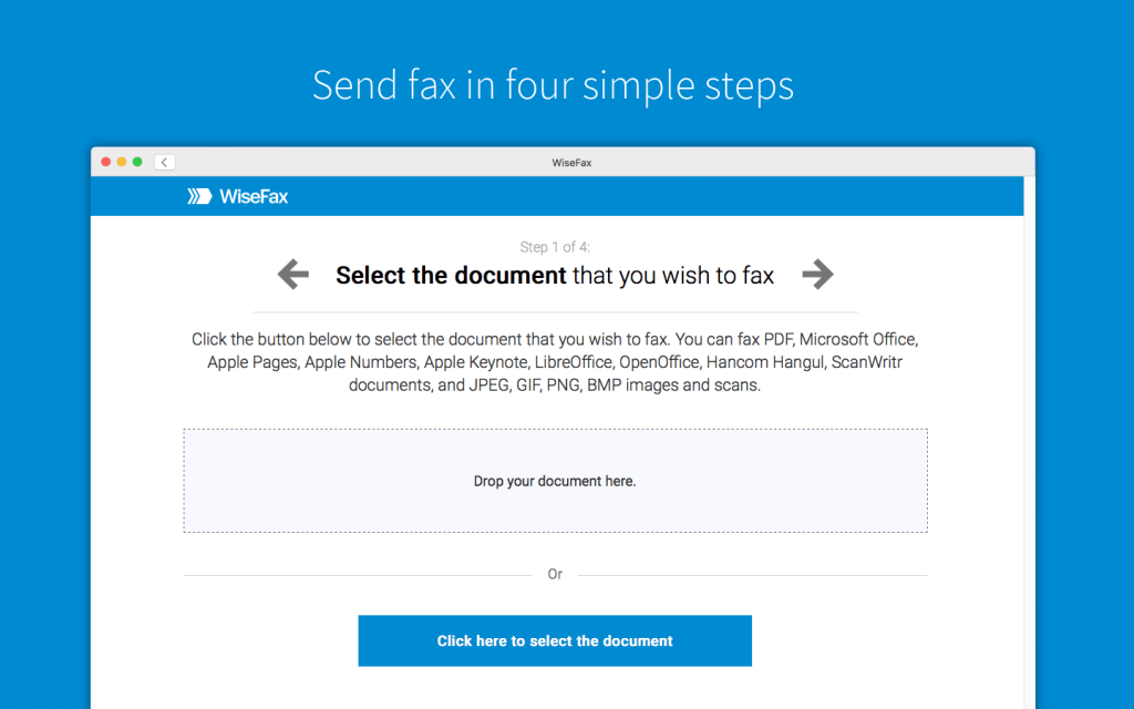 Send VA forms by fax with WiseFax
