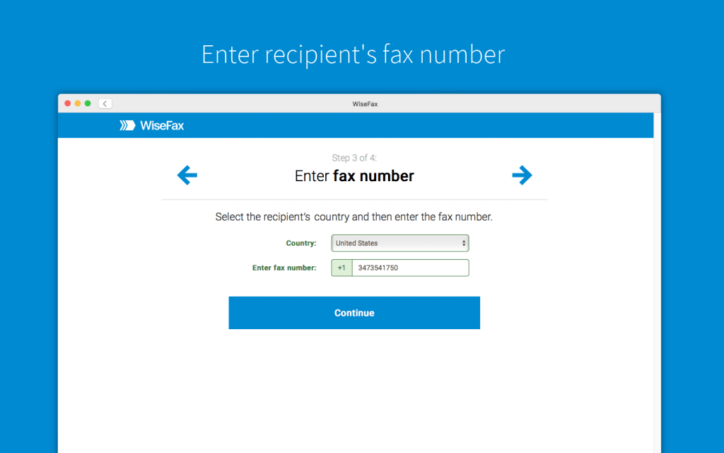 Send VA form by fax with WiseFax