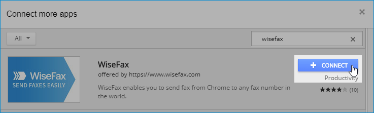 Connect WiseFax app