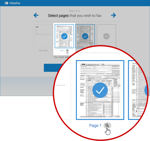 Correct and fax a document with WiseFax