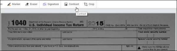 Improve contrast before faxing with WiseFax
