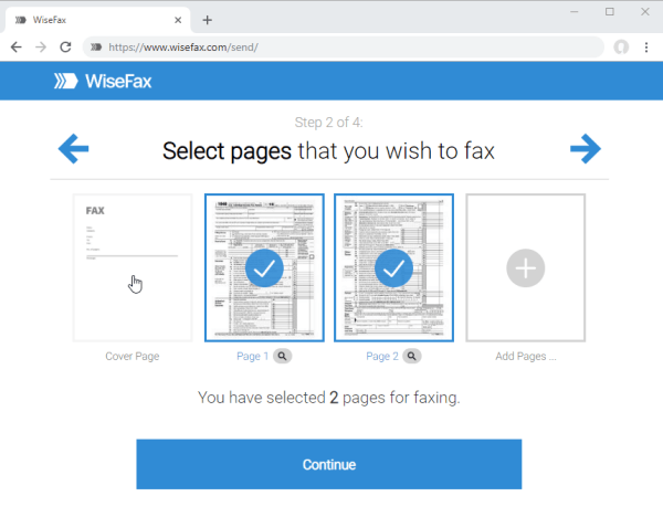 Add cover sheet to WiseFax