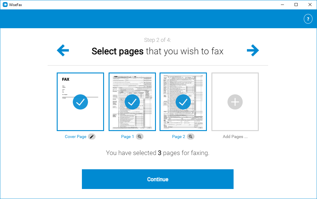 Send fax with Windows 10 app