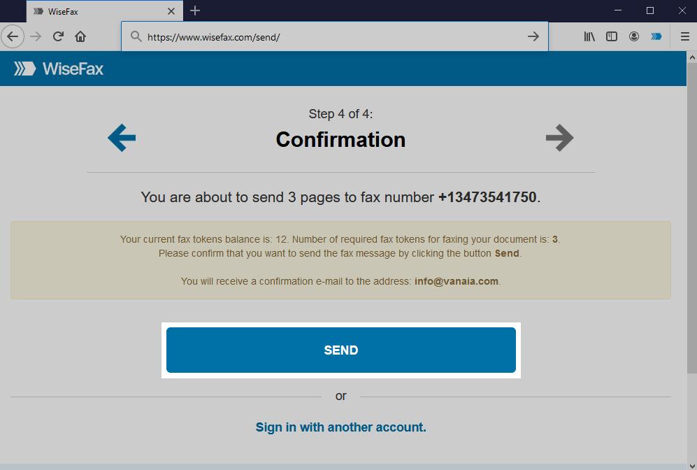 Firefox - Send fax